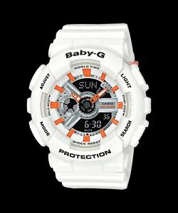 BA-110PP-7A2-White-Baby-G-Ladies-Watches-Resin-Band-New