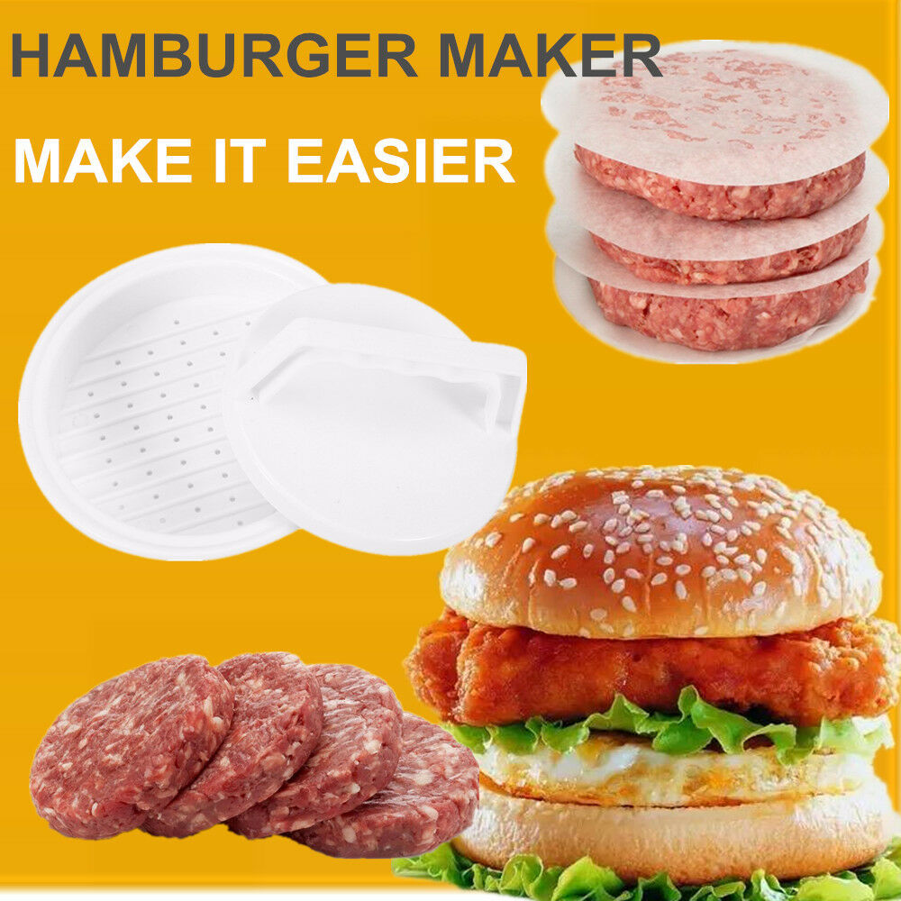 DIY Plastic Hamburger Meat Compactor Press Mold Burger Maker