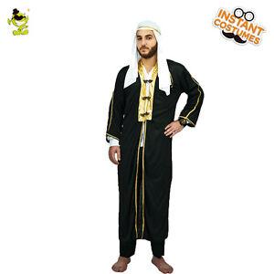 Adult-Men-039-s-Stage-Performances-Halloween-Party-Dress-Arab-Kings-Costume