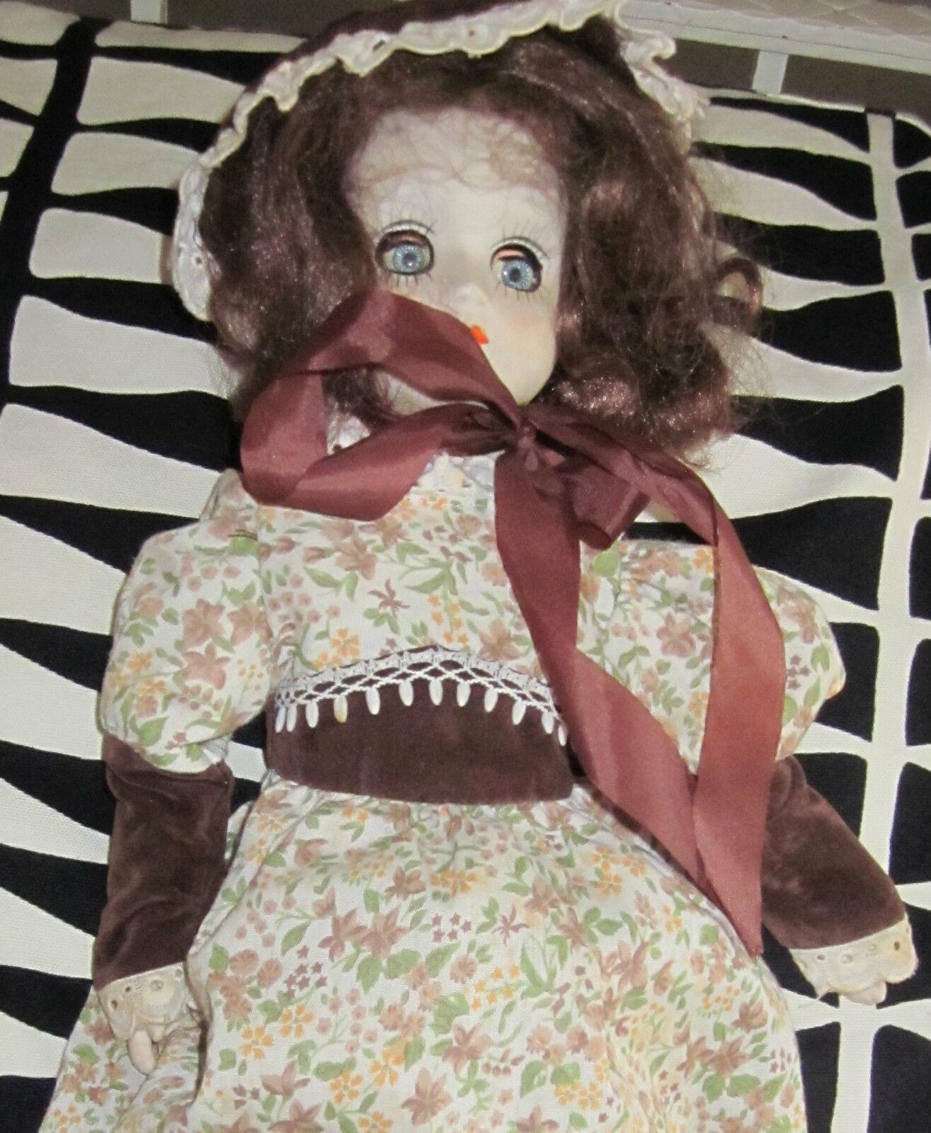 Vintage alte Schlafpuppe Puppe Porzellan Kleidung komplett bewegliche Glieder