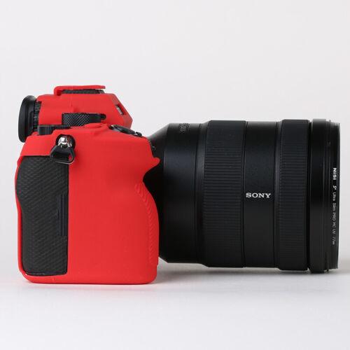 Armadura de Silicona Recubrimiento Estuche Cubierta Protector del cuerpo para cámara Sony A74 7RIV A7R4 a74