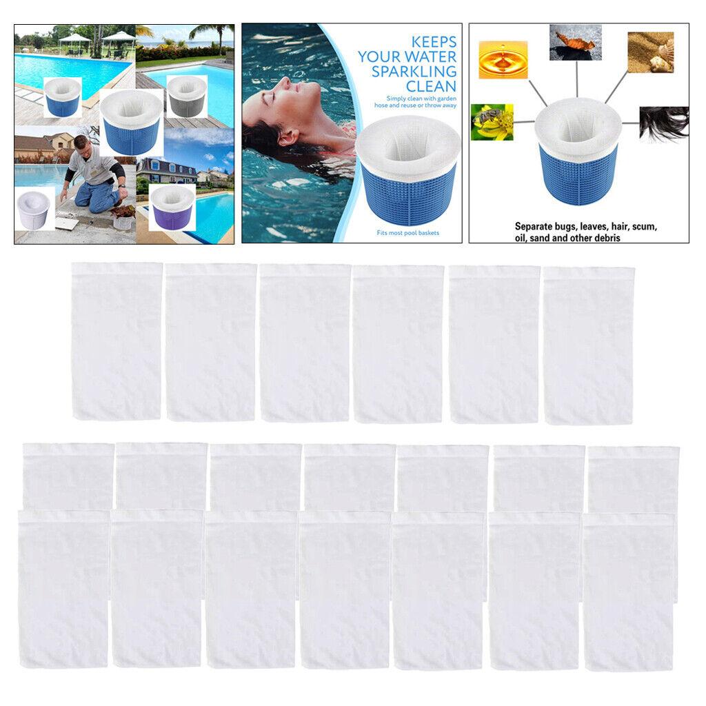 10/20/30Pcs Pool Filter Saver Basket Sleeve Mesh Screen Sock Pool Skimmer Socks