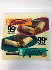 McDonald's BREAKFAST & CHICKEN BURRITO Sign VTG 1991 DRIVE-THRU Menu  MAN CAVE