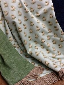 La Foto Se Está Cargando Custom Designer Throw Blanket Colonial Williamsburg Foundation Fabric