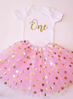 Baby Girl 2nd Anniversaire Tenue tutu Cake Smash shooting photo bébé fille