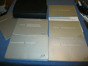 2010 infiniti fx35 fx50 fx 35 50 owners manual set w case rh ebay co uk 2015 Infiniti FX35 2010 infiniti fx35 owner's manual pdf