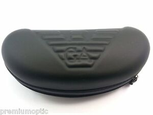 35d821d28cf5 Giorgio Armani   Emporio Armani LARGE Black Hard Zip Sunglasses Case ...