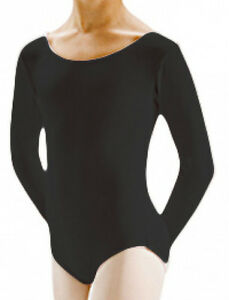 a978493a9 Motionwear 2102 Girl s Size Large (Fits Medium) Black Long Sleeve ...