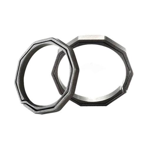 EDC Titanium Alloy Carabiner Hanging Buckle Key Ring Quickdraw Keychain Tool