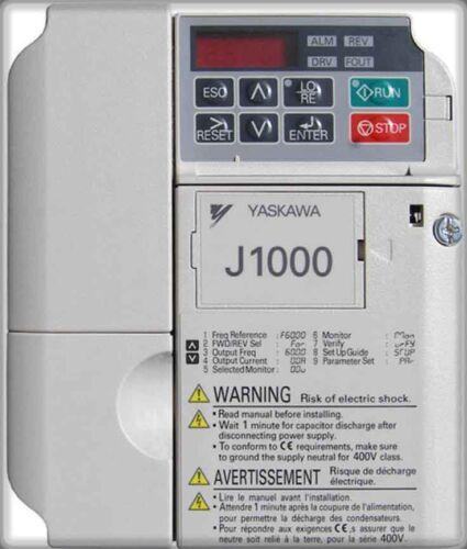 YASKAWA  J1000 Yaskawa AC DRIVE 1 /&2 HP CIMR-JU4A0004BAA 4.1AMP  DRIVE NEW