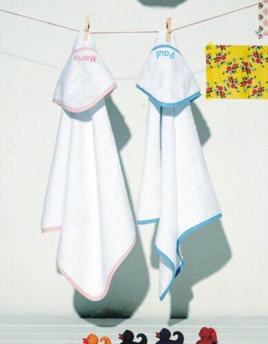 Baby Handtuch bestickt mit eigenen Wunschnamen Kaputzentuch Duschtuch Handtuch