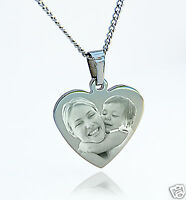 Engraved Photo Pendant - Personalised With Any Image And Text - Different Shapes