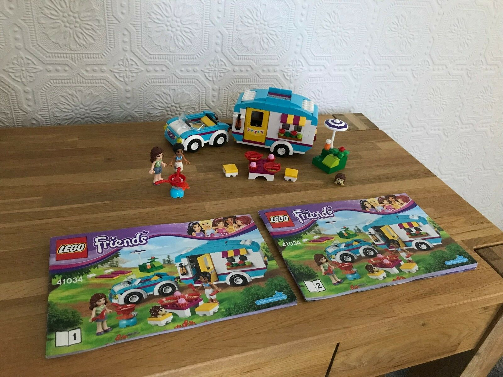 Lego Friends 41034 & 41026 (2 Sets in Total) 100% Complete,Instructions,No boxes