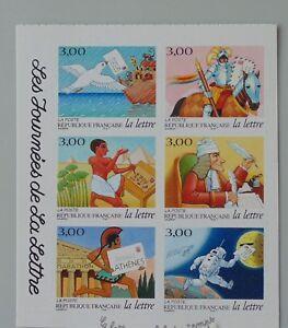 année 1998 3156 à 3161 adhésif 18 à 23 neuf luxe ** demi carnet