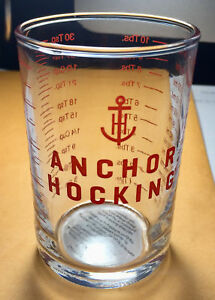 Anchor-Hocking-5-oz-Clear-Glass-Measuring-Cup-amp-Bar-Tools-Jigger-amp-Shot-Glass