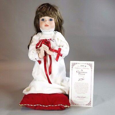 "Hamilton Heritage Collectible Doll /""A Christmas Prayer/"" NIB"