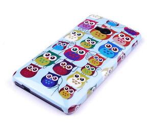 Huelle-f-HTC-One-M7-Schutzhuelle-Tasche-Case-Cover-Handy-Owl-kleine-suesse-Eule-bunt