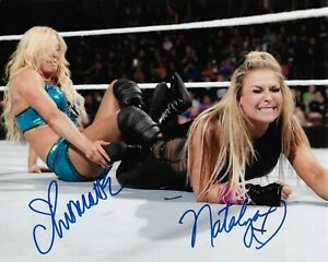 CHARLOTTE-FLAIR-amp-NATALYA-WWE-WWF-Diva-Autographed-Signed-8x10-Photo-REPRINT