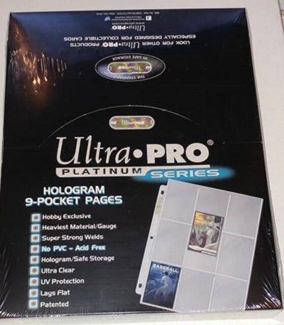 Ultra Pro Platinum 9 Pocket Pages Binder Sheets Sealed Box of 100
