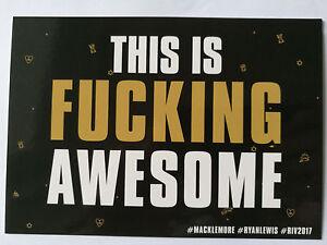 Maklemore-Ryan-Lewis-Postkarte-Fucking-Awesome-fuer-Sammler