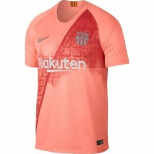 fae73048d010d Nike FC Barcelona Season 2018 - 2019 Third Soccer Jersey Coral Pink ...