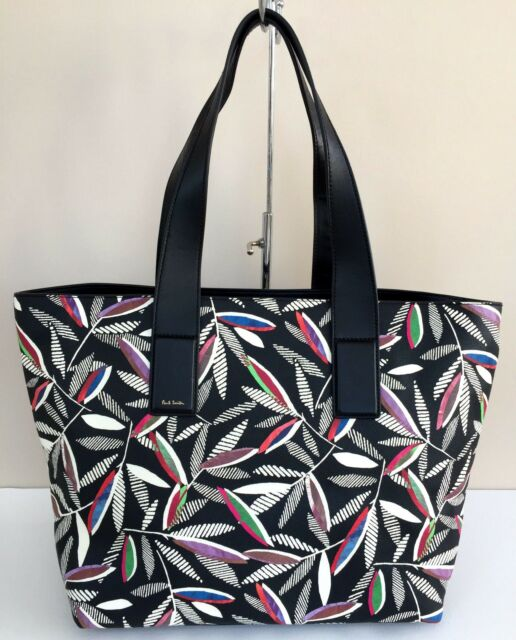 a85f3eb137eb Paul Smith Grained Leather Rowan Leaf Print Tote Bag Retail for sale ...