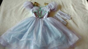 Girls Revolution Dance Wear Purple Princess Dress Ensemble Size 4