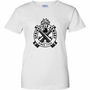 Springfield Armory Black Logo T-Shirt 2nd Amendment Pro Gun Firearms Rifle New