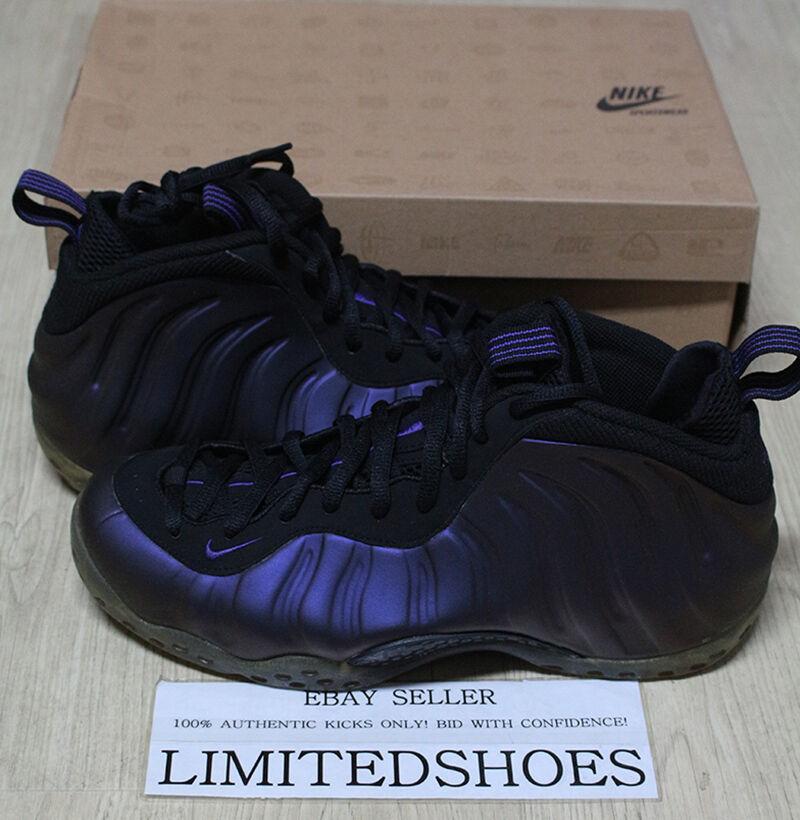 Nike Air Foamposite One berenjena Negro Morado PE 314996-051 10 Galaxy espejo PE Morado el último descuento zapatos para hombres y mujeres 760fbf