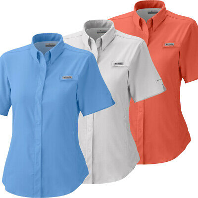 "New Womens Columbia PFG /""Tamiami/"" Omni-Shade//Wick Vented Fishing Shirt Plus Size"