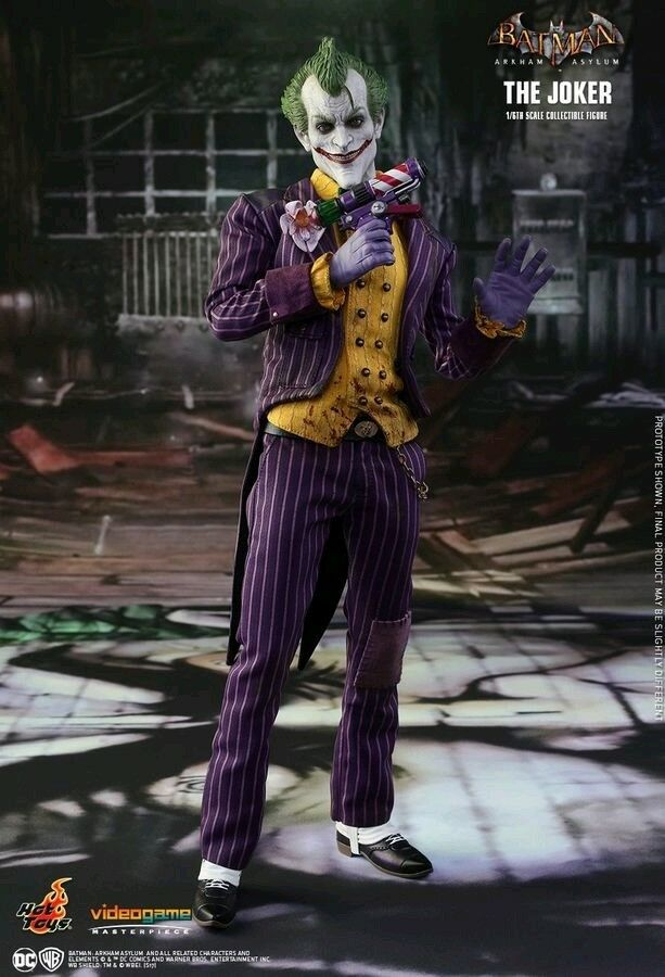1:6 Scale Figures--Batman: Arkham Asylum - Joker 12