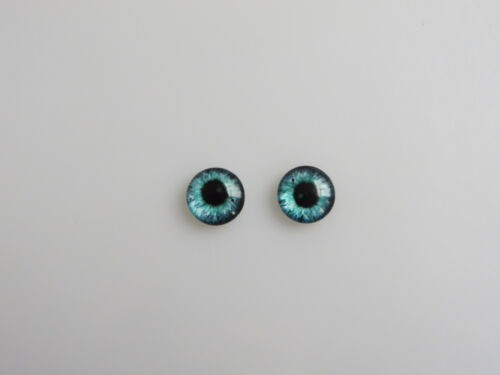 20pcs 10mm Round Dragon Eyes Glass Cameo Cabochons Jewellery Craft Supplies