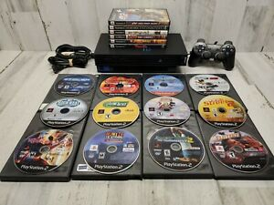 Sony Playstation 2 (PS2) Console Bundle: 18 Games, 1 Controller, Mem Card Tested