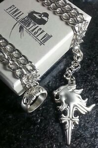 Final-Fantasy-VIII-Squall-Griever-Necklace-amp-Ring-FF8-XV-15-Cosplay-Cloud-Anime