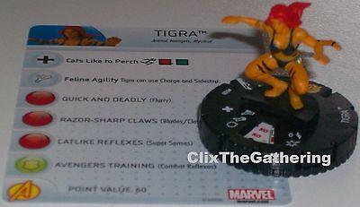 Heroclix Age of Ultron set Tigra #008 Common figure w//card!