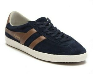 Gola-Specialist-Suede-Trainers-Men-039-s-Lace-Up-Fashion-Sneakers-Navy-Blue-Size-8