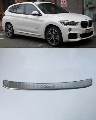 Steel Rear Door Bumper Protector Guard Sill Plate for 2014-2017 BMW X3