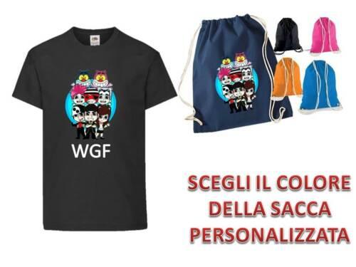 WhenGamersFail Maglietta Bambino WGF Sacca TEAM WGF Lyon Youtuber vers.3