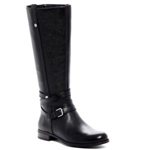 Black Leather Tall Boot Sz 6.5 13701