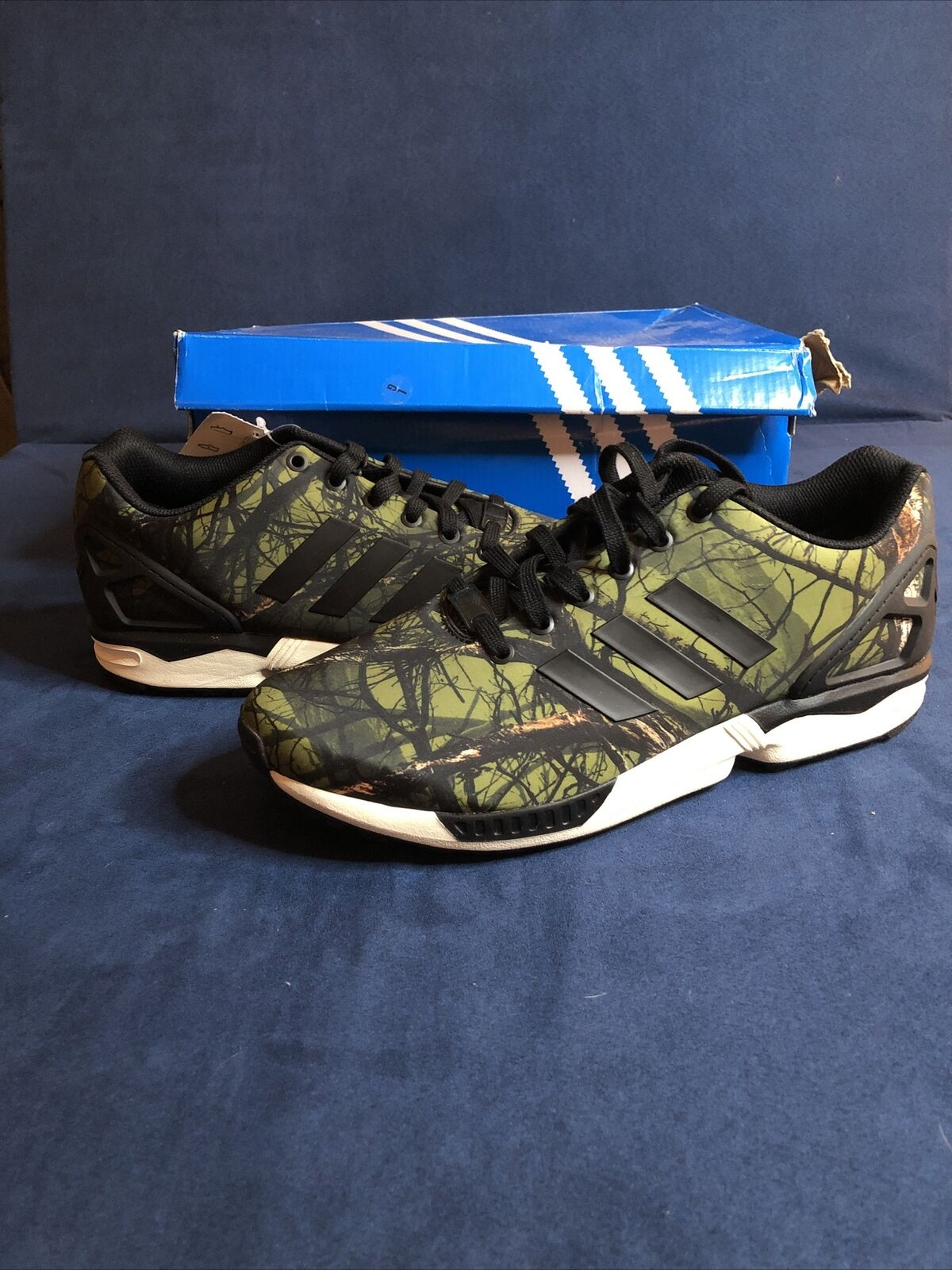 Size 10.5 - adidas ZX Flux Deep Forest for sale online | eBay