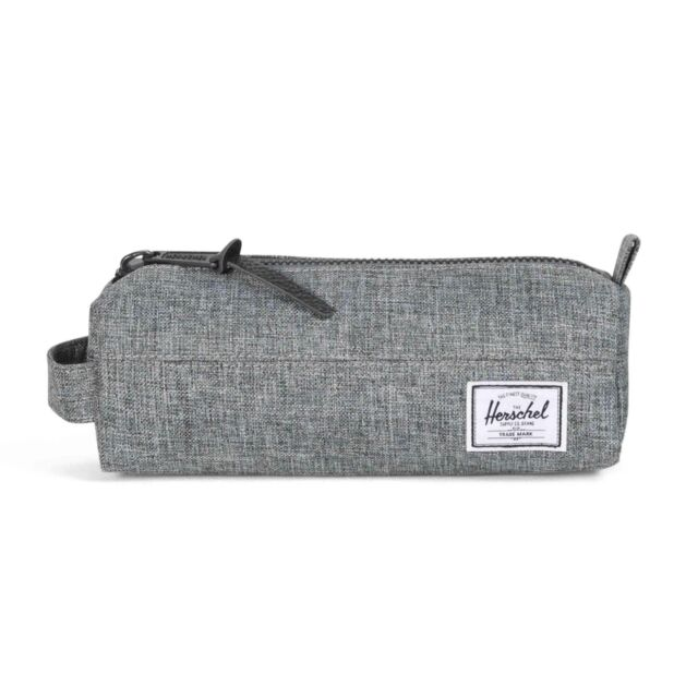 Herschel Settlement Case Pencil School Case Raven Crosshatch
