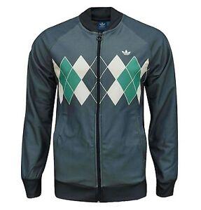 otra oportunidad precio de calle elegir despacho Detalles de Adidas Originals Hombre Rombos Golf Chaqueta Chándal Índigo XS  - S