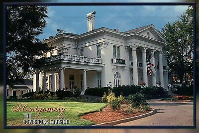 Flag Montgomery Postcard Alabama Driveway and Garden The Governor/'s Mansion