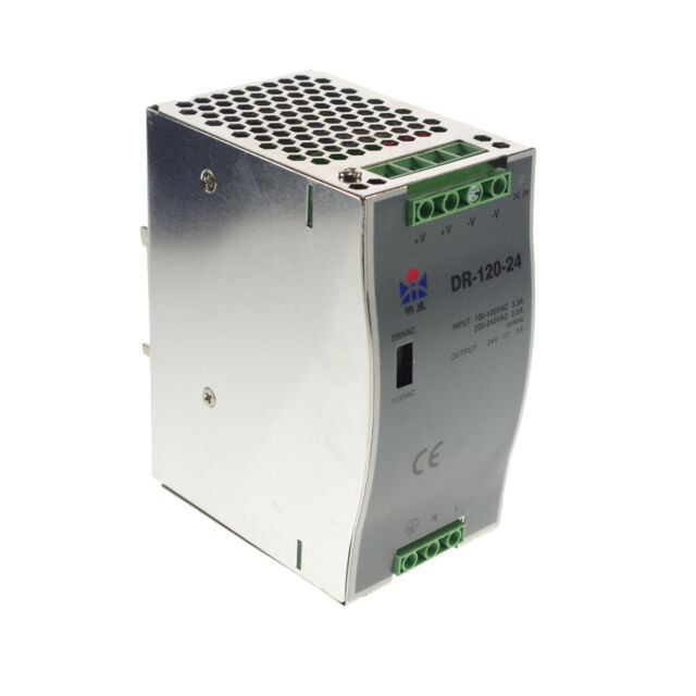 120W Din Rail Mounted 24VDC 5A Output Industrical Power supply