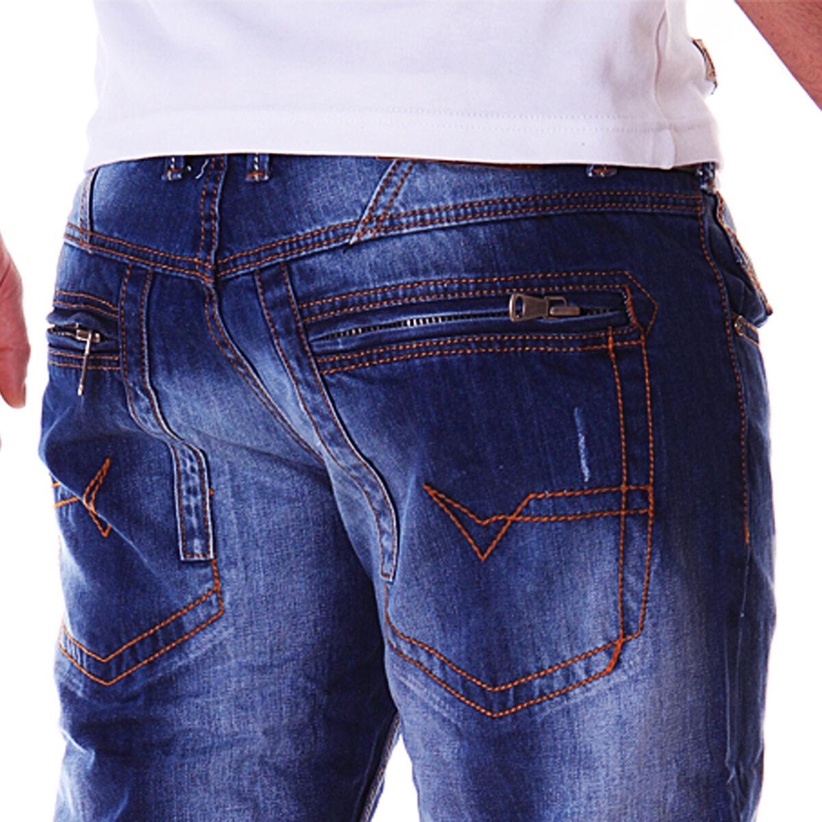 Zahida Jeans Uomo Jeans Denim Stile Stile Stile Blu Vestiti da Discoteca Vintage J1.3 1759 28f559