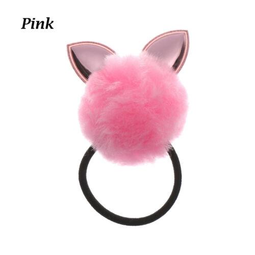 Leder Seil für Haare Plüsch Kaninchen Mädchen Haar Clip Elastische Haarband