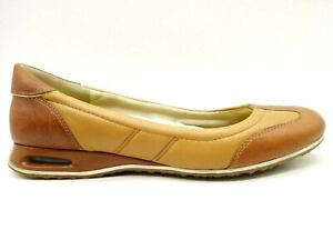 Cole-Haan-Air-Brown-Leather-Slip-On-Casual-Low-Wedge-Flats-Shoes-Women-039-s-8-5-B
