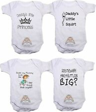 PERSONALISED BABY VEST BODYSUIT FUNNY SAYING A11