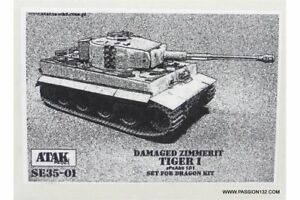 ATAK-Model-SE35-01-1-35-Zimmerit-Tiger-I-Damaged