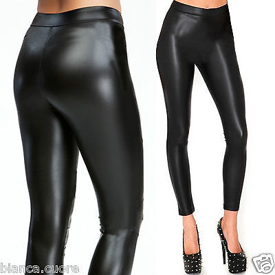 nuovo arrivo e6ecd ee17e Leggings Eco Leather Black Super Skinny legghins Woman Leggings High  Quality d0519 | eBay